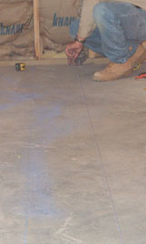 Snap some chalk lines to help guide the layout.