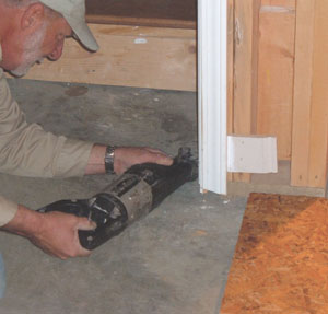 You may have to alter door jambs to make room for the panels.