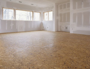 The completed subfloor will keep your basement floor warm, dry and comfortable.