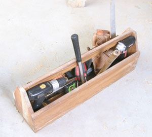 Hand-tool storage for homeowners can be as simple as a tool box set in a garage corner.