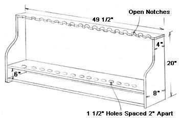 Woodturning tool-rack design.