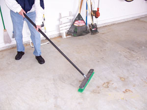 Thoroughly clean the floor prior to installation.