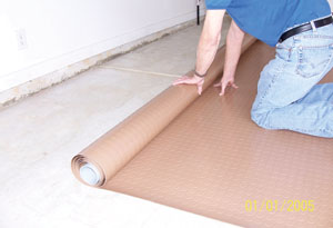 """Simply unroll, trim to fit and overlap adjoining edges (6"""" or more)."""