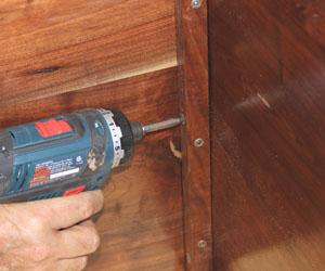 Cut corner blocks and fasten in place.