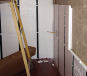 The walls were insulated with InSoFast panels.