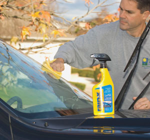 Applying Rain-X is a wax-on/wax-off type of operation. The window treatment also aids in removing ice, mud and bugs.