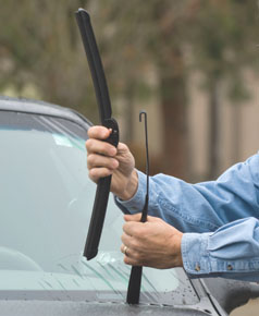Easy to install, Rain-X Latitude wiper blades feature a curved-style blade, graphite coated rubber blades, built-in spoiler to reduce wind lift, and no exposed metal to prevent ice buildup.
