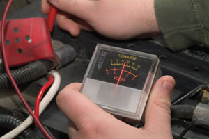 It's a good idea to test the battery for output. A battery nearing the end of its lifespan can leave you stranded in winter conditions.