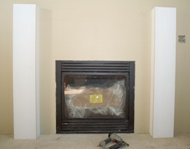 Mantel with both side legs in place.