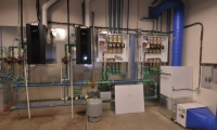 Mechanical room featuring Hi-Velocity System products.