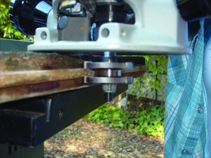 Use an old board as a template for the tongue-and-groove joints, and rout the new joints along each replacement piece.