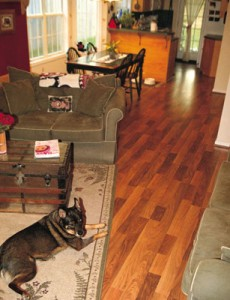 Flooring in a snap installing laminates extreme how to for Hardwood floors that snap together