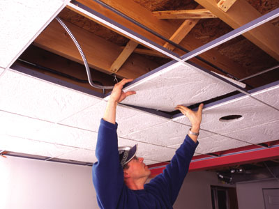 Diy Acoustic Ceiling Tile Extreme How To