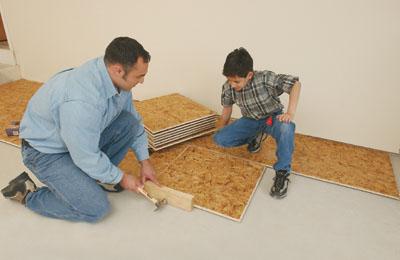 Laying Carpet Tiles On Subfloor