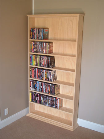 I put up some shelves for my movie collection today - Imgur