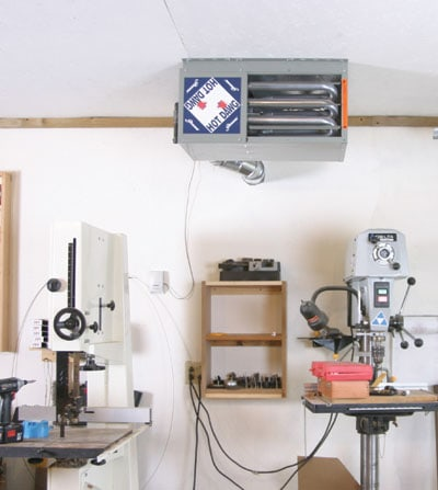 Diy shop and garage heating extreme how to for Best propane heating systems