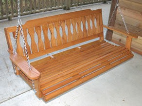 how to build a porch swing extreme how to. Black Bedroom Furniture Sets. Home Design Ideas