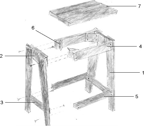 Simple Wooden Bar Stool Plans