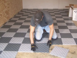 Install Snap Together Garage Tile