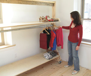 Build A Temporary Closet