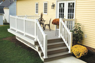 Installing a synthetic railing system extreme how to for Fypon railing