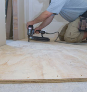 Install plywood underlayment for vinyl flooring extreme for Preparing floor for vinyl