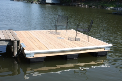 Build your own swimming dock extreme how to for Pond pier plans