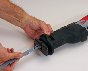 With today's quick-change blade holders, inserting blades is easier than ever in all saws.