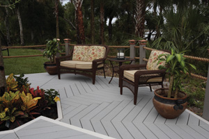 Enhance Decks with Wood-Plastic Composite Decking and Railing.