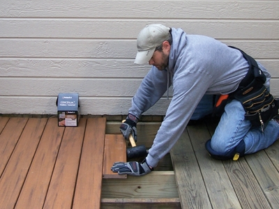 Composite decking resists splintering, splitting, twisting and cracking.