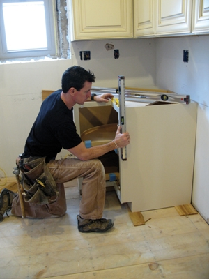 Getting level and plumb in all directions can be a challenge. I have a torpedo, 2- and 4-foot level on hand to get an accurate read on this first base unit.