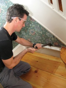 When removing moulding but keeping the existing plaster, be careful not to crush the plaster as you pry off the moulding.