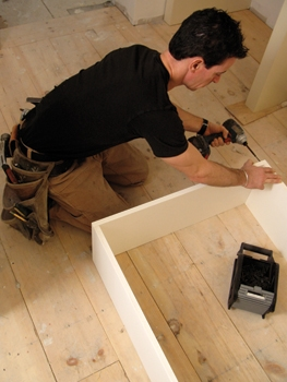 When installing new windows in jambs where I don't want to use the existing studs as my fastening point- i.e. a kitchen remodel where an extra deep sill is of great benefit- I build a
