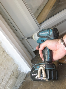 If you use an impact driver to screw down the rails, remember that those things pack a wollop. Go easy at the end to prevent deforming the metal rails.