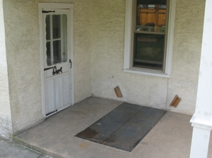 Here's the old door before remodeling.