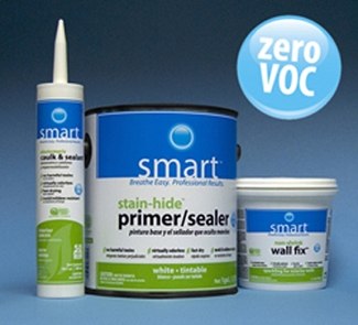 With no harmful, irritating fumes, SMART Elastomeric Caulk & Sealant from Gardner-Gibson is a premium zero-VOC caulk that is ideal for occupied spaces. It promotes cleaner air for all; especially seniors, children and allergy and asthma sufferers. It's compatible with all latex and acrylic paints and cures quickly to speed topcoating.