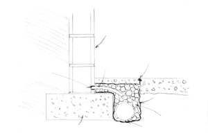 For serious wall/floor problems you may need to install a drain system around the perimeter of the wall.
