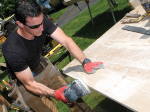 Sand the edges to remove saw marks, if desired.