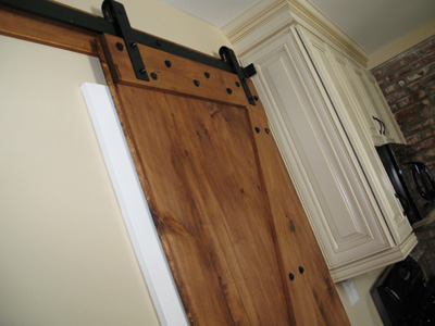 Designing building and installing an interior barn door for Interior door construction