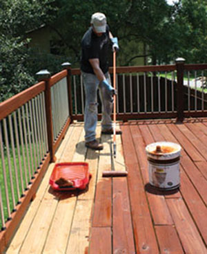 Exterior wood care for pressure treated lumber extreme for Pressure treated decking
