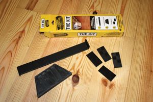 For DIY installers, Lumber Liquidators offers an installation kit for T&G flooring, which includes basic essentials—a plastic tapping block, a pull bar and 20 adjustable spacers.