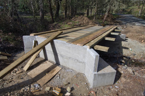 The nearly-completed bridge is almost ready for backfill.