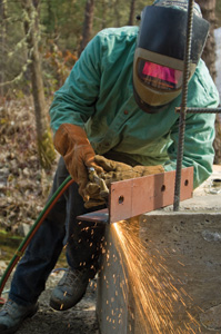 Although Mike owns a plasma cutter, he chose to use a cutting torch for most of the cuts on this project.