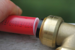 Simply push the pipe into the push-fit connector until it clicks.