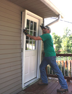 Installing a new exterior door extreme how to - Installing prehung exterior door on concrete ...