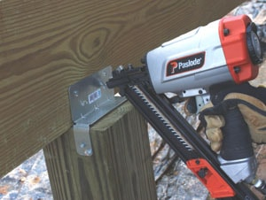 I installed galvanized hardware at the front and rear of the beam when fastening to the posts.