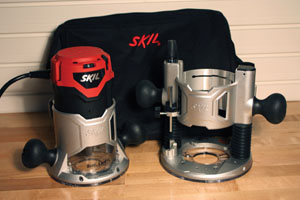 Routers and router bits fall into two categories: edge routing and groove routing. The new Skil Model 1830 2.5hp combo kit comes with an interchangeable fixed base and plunge base to tackle both applications. The Skil router's soft-start feature, variable speed control and LED work lights make it a very user-friendly model for DIY woodworkers (www.skil.com).