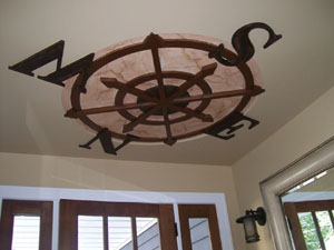 Creative use of paint can enhance the design of your ceiling accent.