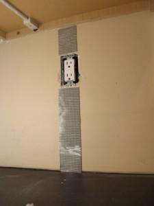 Start installing Bondera Tile MatSet at the electrical devices.