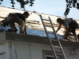 We installed Grace Ice and Water Shield at the eaves.